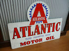 Large Atlantic Motor Oil Metal tin sign Petrol Motor Oil Man cave bar Garage