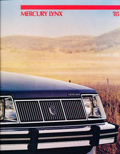 1985 Mercury Lynx Deluxe Sales Brochure