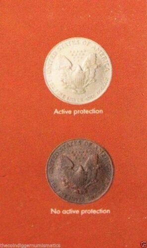 24 Small Dollar Quadrum INTERCEPT 2x2 Coin Holder Snap 26mm Storage Capsule Case