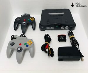 Nintendo-64-Console-Bundle-N64-OEM-Controller-Clean-amp-Tested-FREE-SHIPPING