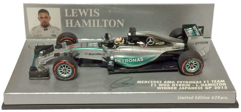 Minichamps Mercedes W06 Japanese GP 2015 - Lewis Hamilton World Champion 1 43