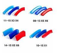 3d Car Front Grill M Sport Tech Kidney Grille 3 Color Emblem Clip Fits Bmw X3 X4