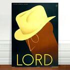 "Stunning Vintage Fashion Poster Art ~ CANVAS PRINT 8x12"" ~ Lord hats"