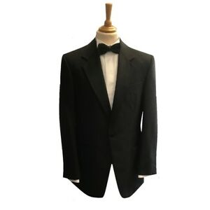 Mens Black Evening Tuxedo Notch Collar Dinner Jacket - Party/Cruise/Black Tie