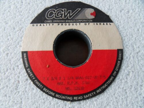 "New CGW Camel 32638 GRINDING WHEEL 7/""x3//4/""x1-1//4/"" WA46-G12-V5  T-5 Free Ship"