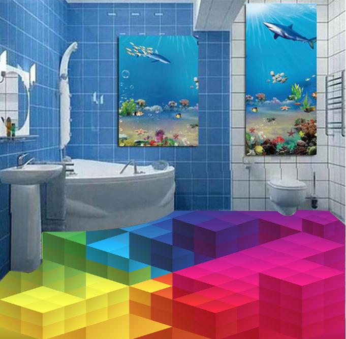 3D Farbe Cubes Lattice 8 WallPaper Murals Wall Print Decal AJ WALLPAPER US Lemon