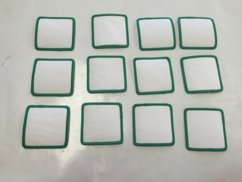 "Lot of 12 Blank 3/"" X 3/"" Cloth Patches Embroidered Patch White Back /& Green"