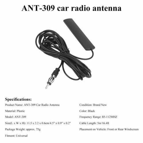 ANT-309 Auto Radio Antenne Universal Auto FM Antenne Patch schwarz Radio An 5I