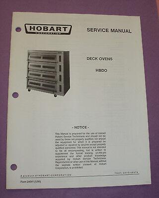 Hobart Electric Deck Oven Model HBDO Modular Deck Oven Service Manual EBay