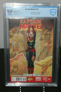 Captain-Marvel-14-CBCS-9-8-NOT-CGC-First-Appearance-cameo-of-Kamala-Khan