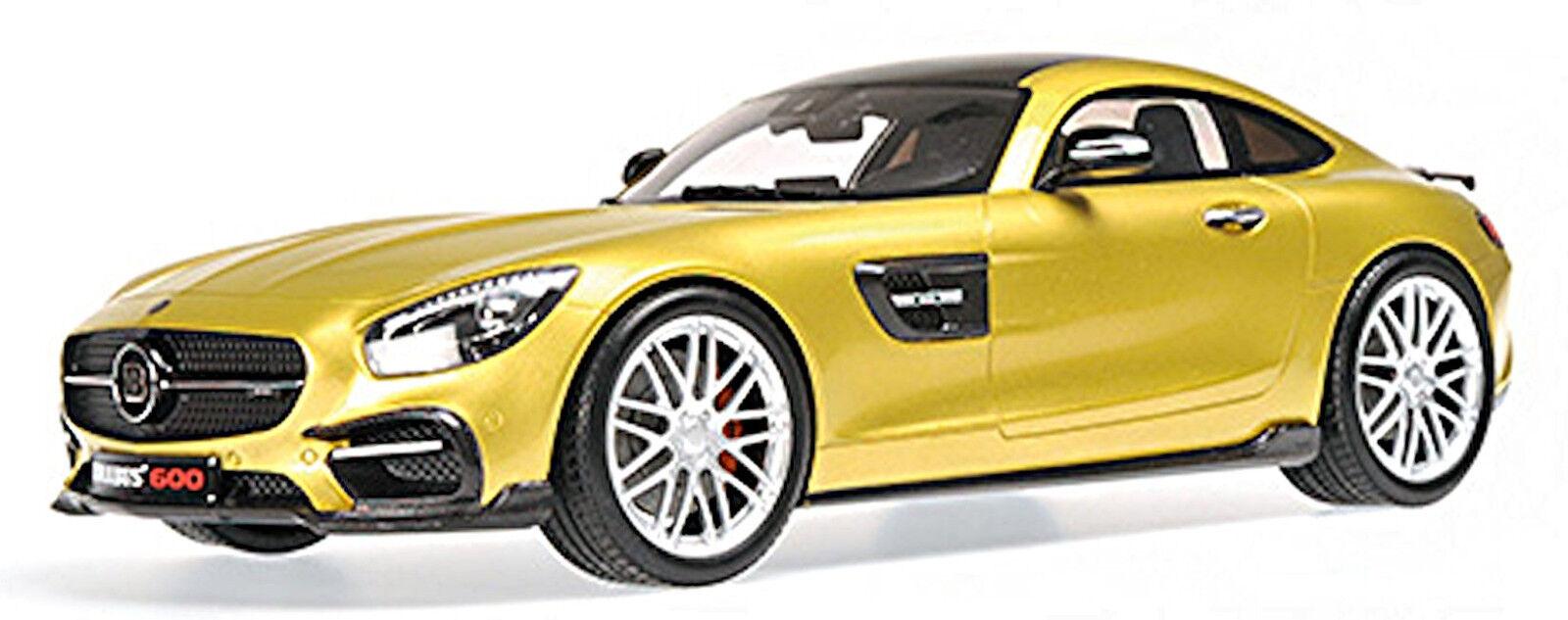 BRABUS 600 Coupe 2015 sur base Mercedes AMG GT S or Metallic 1 18 Minichamps