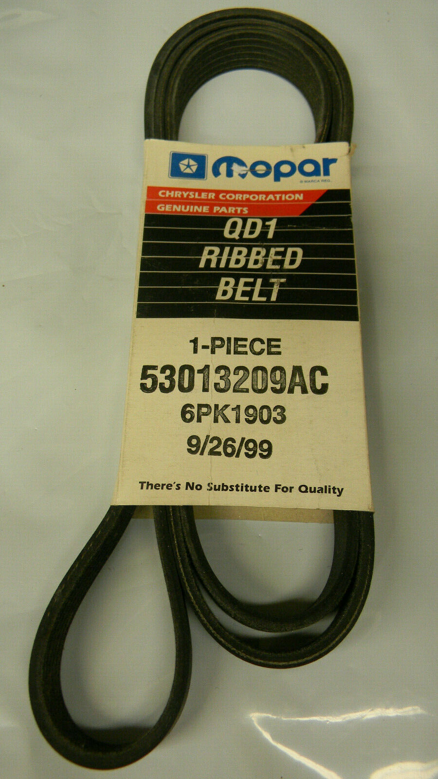 Genuine Chrysler 53013209AA Drive Belt