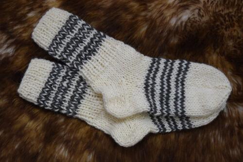 Da Donna Da Uomo 100/% pura lana di pecora naturale a mano Calzini A Maglia