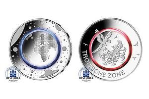 Deutschland 5 Euro Tropische Zone 2017 Und Planet Erde 2016 Set In