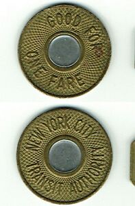 Buffalo New York NFT  Good For One City Fare Token Transit Authority Vintage