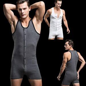 3decbbfd29 Das Bild wird geladen Herren-Body-Bodywear-Overall-Weich-Bodysuit -Maennerbody-Einteiler-