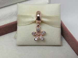221686f50 New w/Box Pandora ROSE Dazzling Daisy Dangle Charm 781491CZ READ How ...