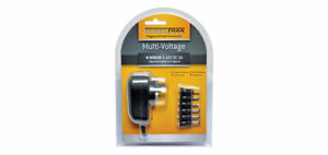 Plugpack 3V 4.5V 5V 6V 7.5V 9V 12V DC 1A output with 6 adapters