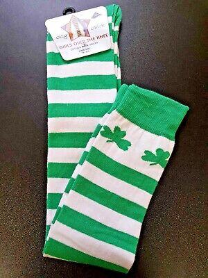 St Patricks Day Knee High Socks for Women Irish Green Clover Shamrock Socks