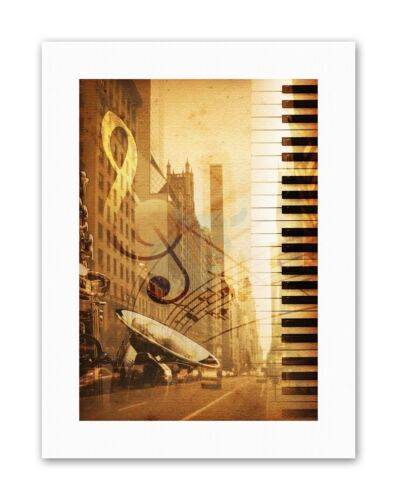 MUSIC MOCK UP BROADWAY NEW YORK JAZZ SAX PLAKAT Poster Music Canvas art Prints