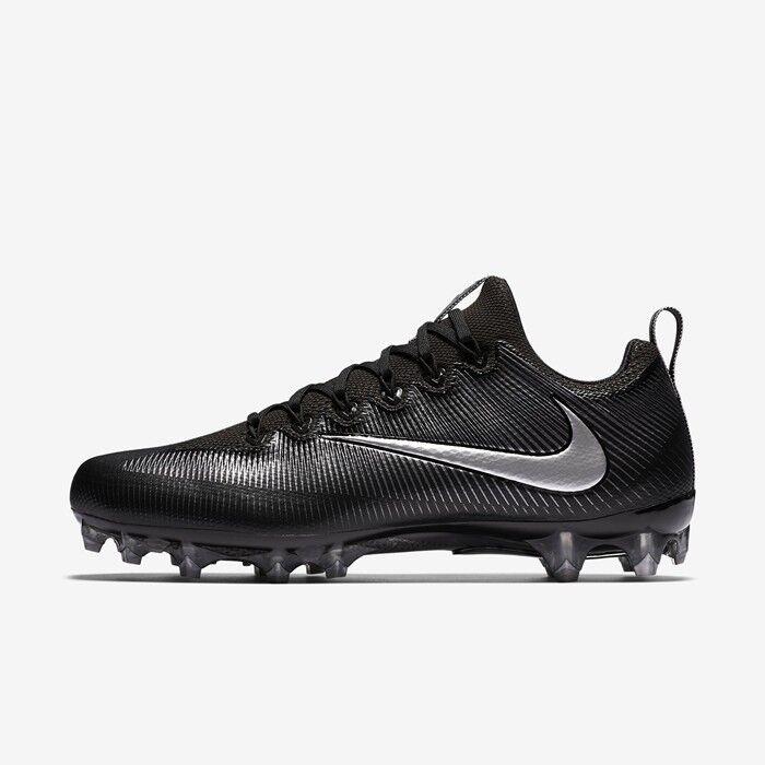 Cheap women's shoes women's shoes Nike Vapor Untouchable Pro Football Cleats Black Metallic Silver 833385-002