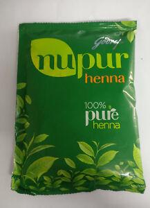 Godrej Nupur 100 Pure Henna Powder For Hair Hand Tatoo 50gm 1 Pc