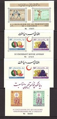 35 Scv $111.50 Disciplined Afghanistan Mint Souvenir Sheet Selection: #505a//b41a