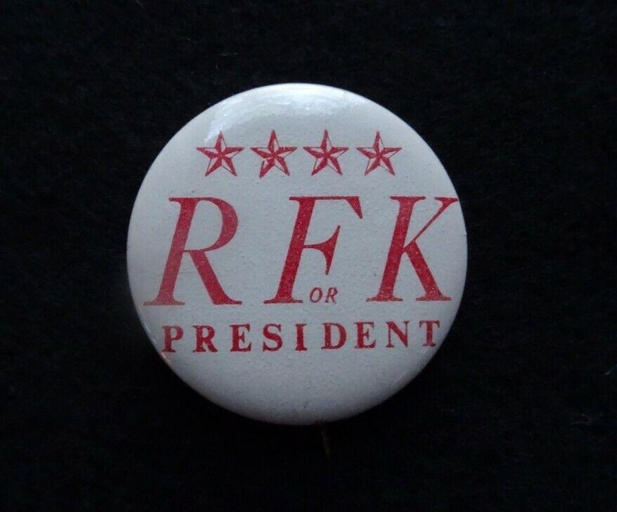 ROBERT F KENNEDY RFK BOBBY CAMPAIGN PINBACK BUTTON PIN BADGE 1968