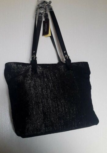 Irisee Loxwood rundleder Tote Argente zwart en lurex Grand canvas rBRqwtB