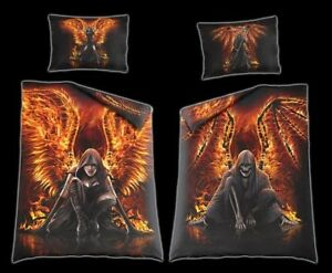Fantasy-Bed-Cover-Flaming-Death-Gothic-Bedding-Equipment-Bedroom