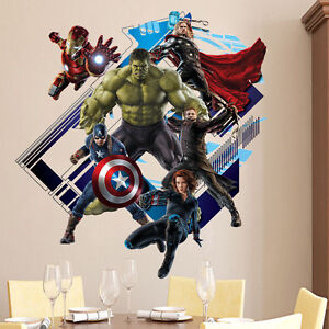 Marvel-The-Avengers-Superhero-Wall-Sticker-Vinyl-Decal-Home-Deco-Art-Room-Mural