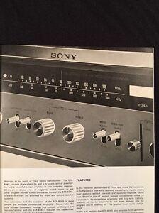 sony str 6045 stereo receiver original owners manual 15 pages rh ebay ca Sony Home Stereo Sony Shelf Stereo Systems