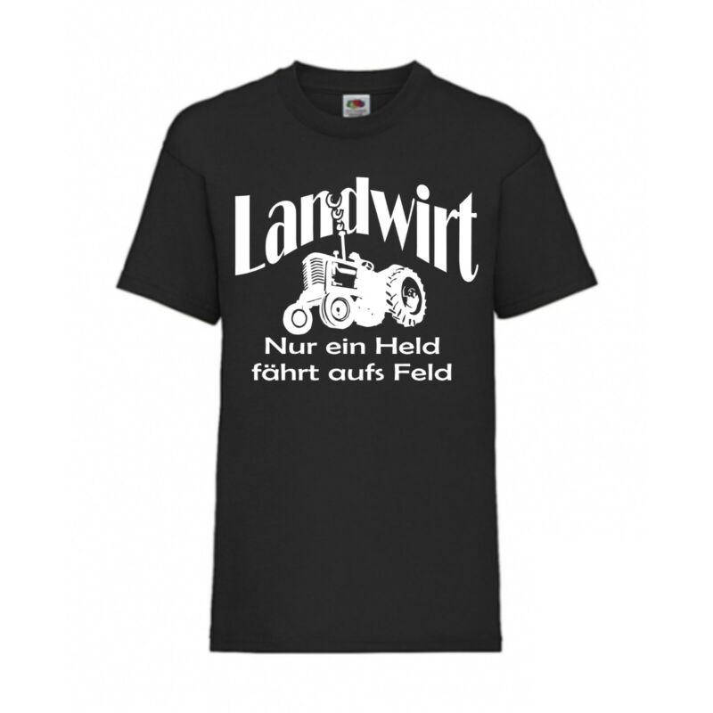 Landwirt - Nur Ein Held Fährt 25 Df Kinder Fun T-shirt Größe 152 Schwarz F0040 Zahlreich In Vielfalt