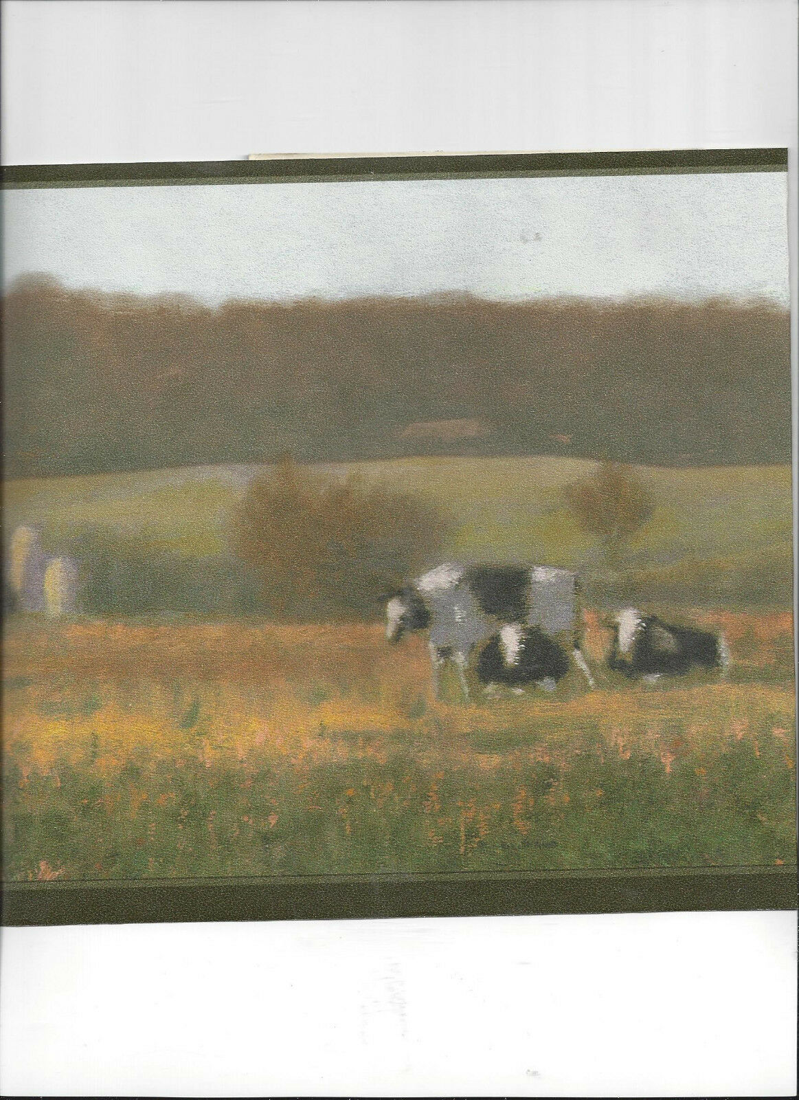 Black White Cows Pasture Farm Country Wallpaper Border New Arrival Ranch Barn For Sale Online