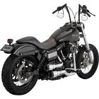 Vance & Hines - 16896 - Hi-Output Grenades 2-Into-2 Exhaust, Chrome/Black