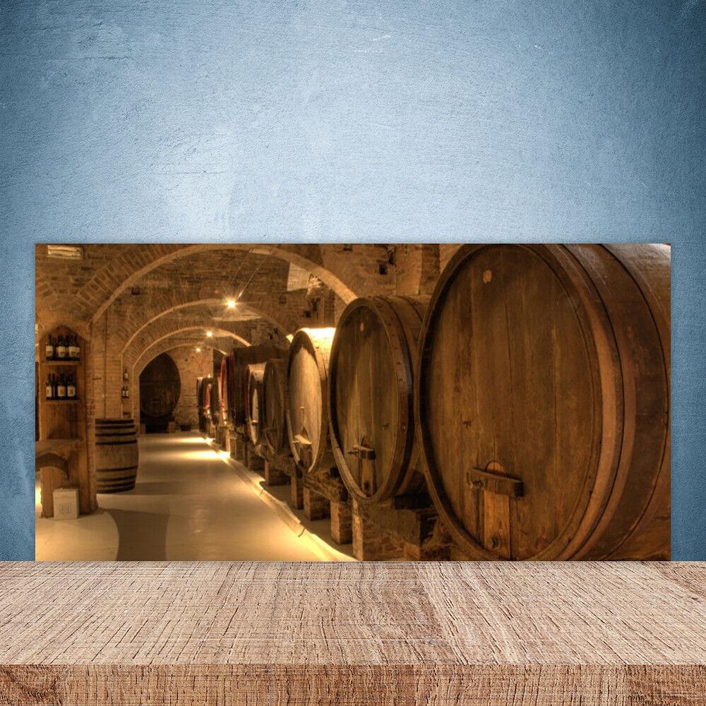 Crédence de cuisine en verre Panneau Paroi 100x50 Art Barils