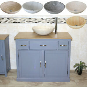 Bathroom-Vanity-Unit-Grey-Cabinet-Wash-Stand-with-Stone-Basin