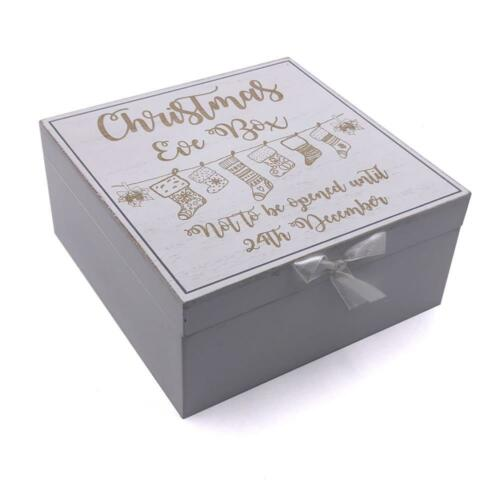 White Christmas Eve Wooden Keepsake Box CG1309-13