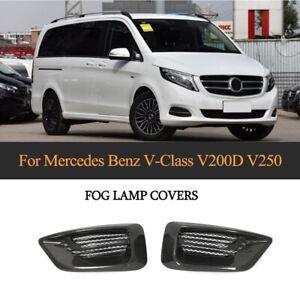 PairCARBON-Nebelscheinwerfer-Blende-fuer-Mercedes-Benz-W447-V-Klasse-V250-Bj16-18