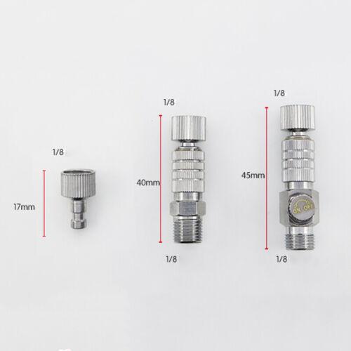 """Metall Airbrush Schnelltrennkupplung Schlauchverbinder Release Adapter 1//8/"""" Zoll"""