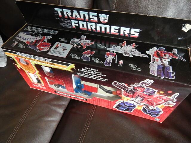 New Vintage 1987 TRANSFORMERS Optimus Prime Powermaster Trailer Rig to Robot