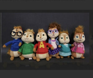 TY Alvin & The Chipmunks Chipettes Beanie Babies 6 Theodore Brittany Eleanor