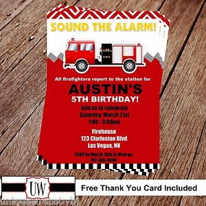 photograph relating to Fire Truck Printable named Information and facts pertaining to Printable Picture Fireman Birthday Invitation, Hearth truck bash Do it yourself Firetruck