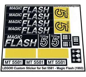 Lego-Custom-Pre-Cut-Sticker-for-Model-Team-set-5581-Magic-Flash-1993