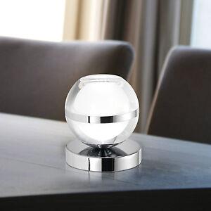 Wofi-Led-Eclairage-de-Table-Fulton-Chrome-avec-Interrupteur-Verre-Acrylique