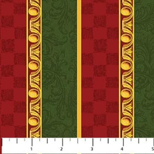 1 Half Metre Length Old Time Christmas Stripe Print Fabric 5506-25