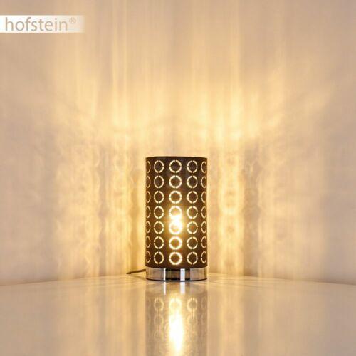 Stoff grau//silber Wohn Schlaf Zimmer Raum Beleuchtung Nacht Tisch Lese Lampen