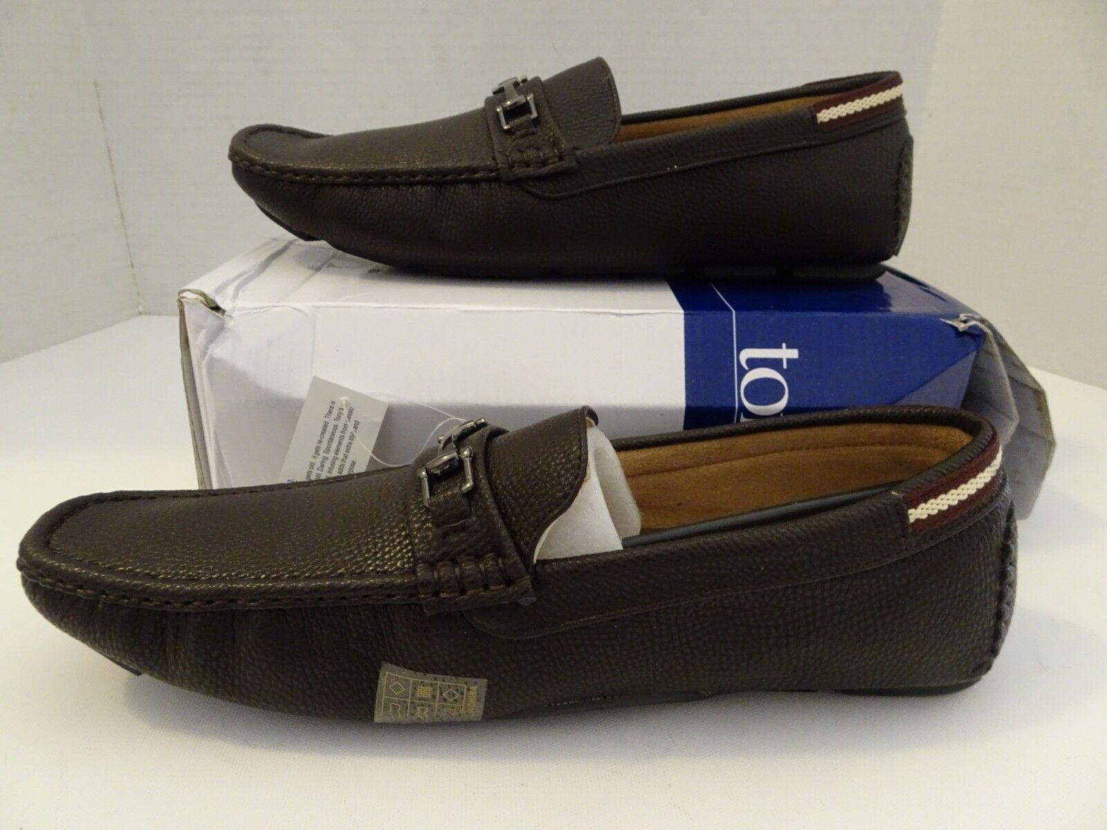 TONYS Casuals  Men's Size 13 Brown Loafers Slip On shoes