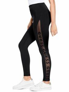 GUESS-Factory-Women-039-s-Nadia-Mesh-Logo-Leggings