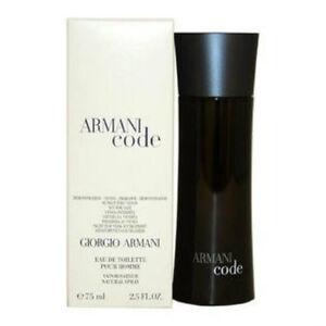 Armani Code By Giorgio Armani 25 Oz Spray Bottle New Men Cologne